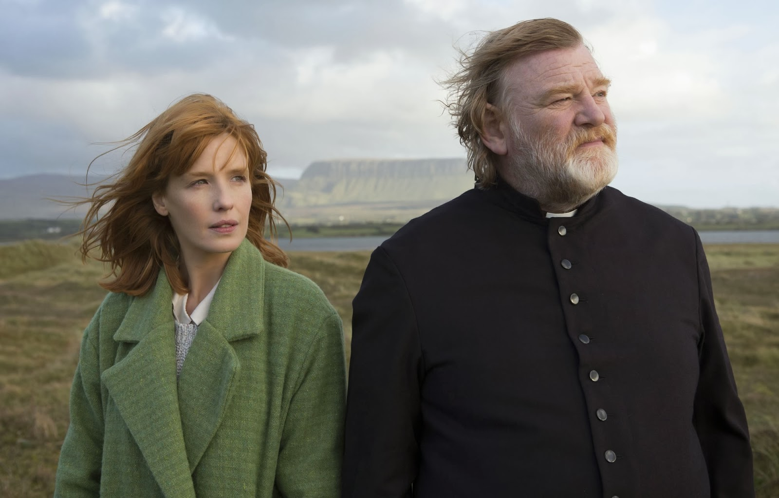 Kelly Reilly and Brendan Gleeson star in Steven's favorite movie of 2014 so far, Calvary.